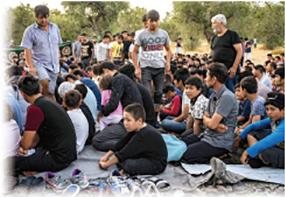 レスボス島流入難民の子どもたち